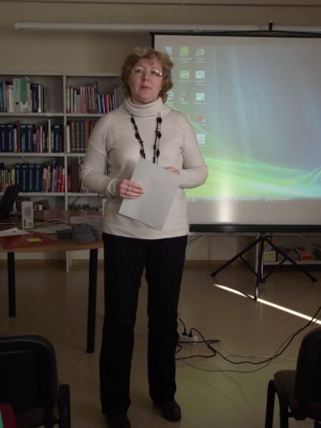 Juriste Gita Miruškina. Seminārs par bēgļu integrāciju - Preiļos, 22. februāris.