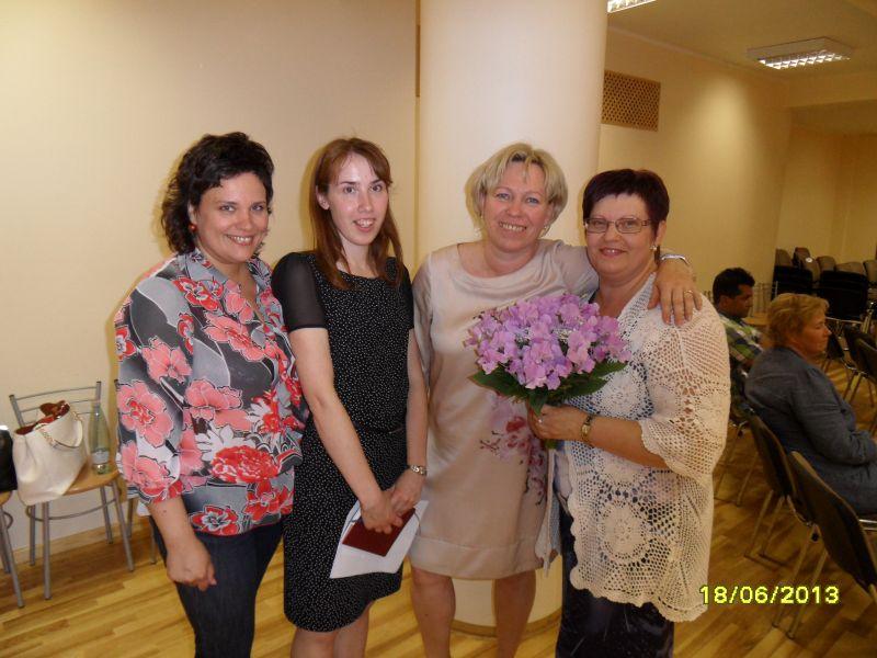 Mēs - Rasa Saliņa, Gita Tillere, Gunta Vīksne un Sandra Zalcmane :)