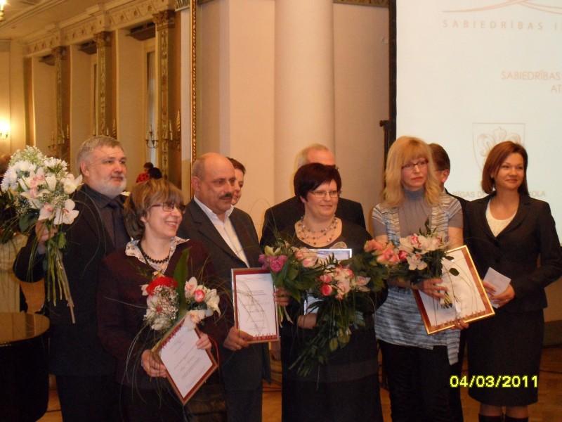 Церемония вручения награды Vienotības balva | Patvērums Drošā Māja