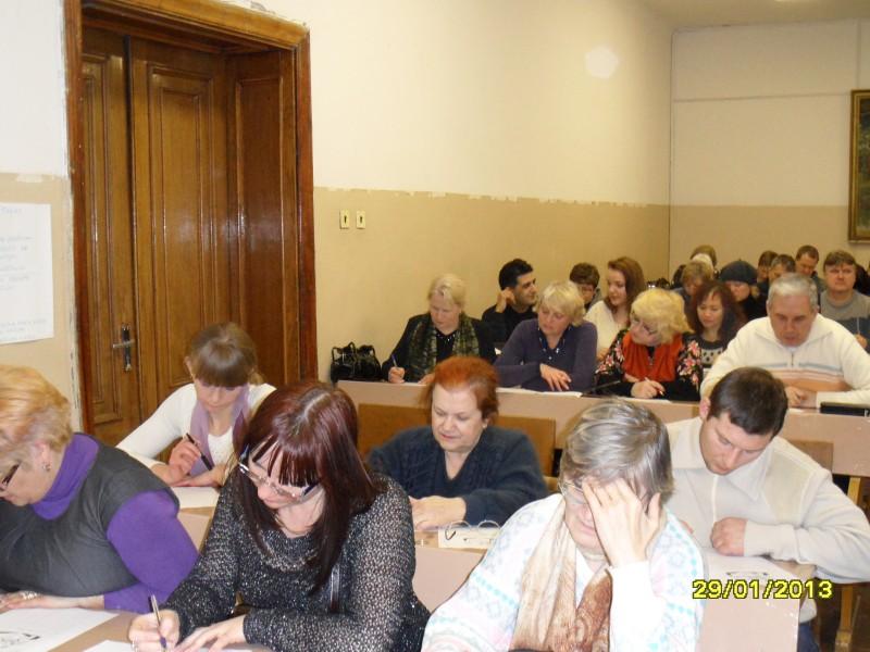 Latviešu valodas stunda Liepājā.