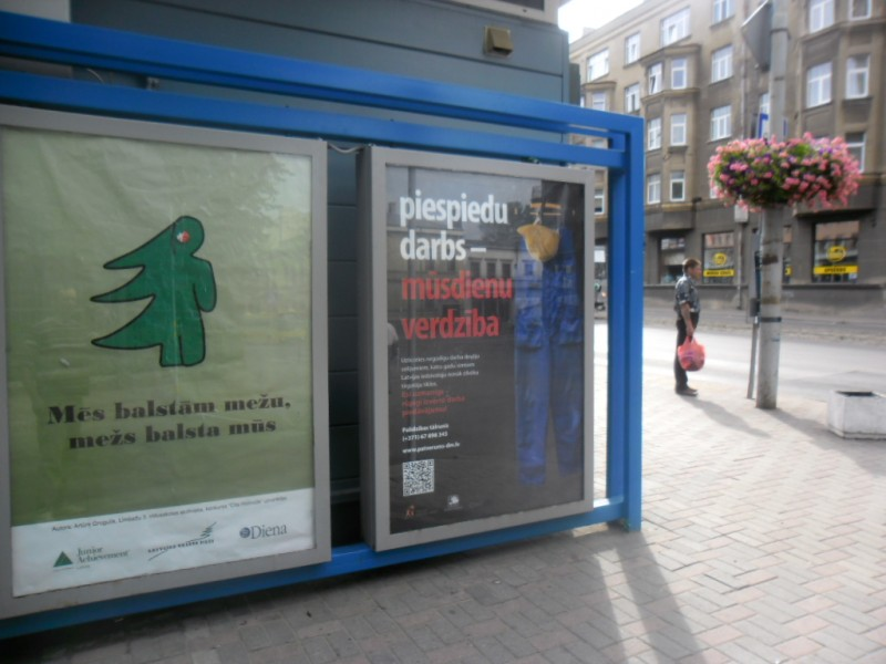 Кампания против торговли людьми в Лиепае.