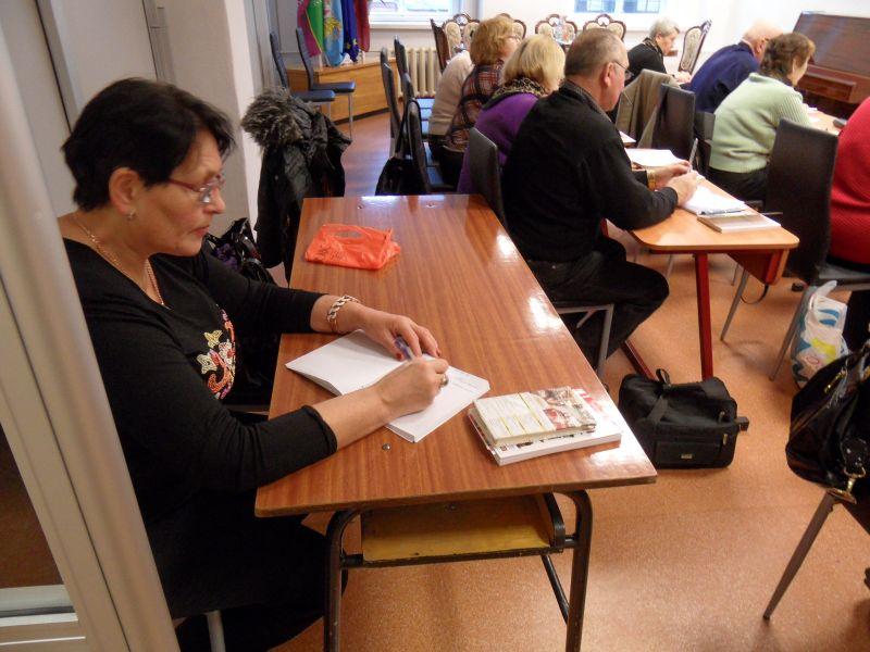 Сеньоры изучают латышский! 26.02. | Patvērums Drošā Māja