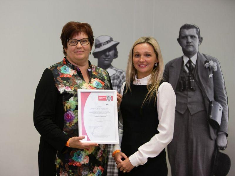 Biedrība saņem ISO 9001 sertifikātu | Patvērums Drošā Māja