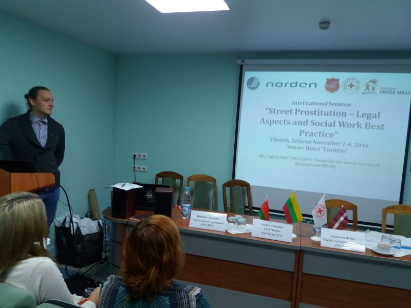 Seminar in Vitebsk on Street Prostitution and Social Work  02.-04.11.2016. | Patvērums Drošā Māja